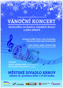 Vánoční koncert DOM Krnov 2015 - plakát